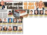 Bajan v roku 2012 zarobil 40 464 eur, Kolková len 13854!