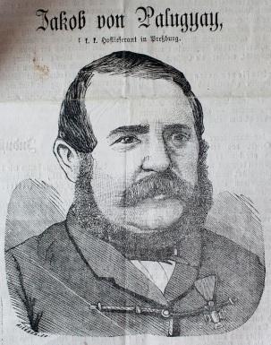 Jakob von Palugyay na dobovej kresbe.