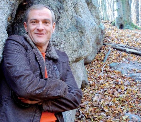 Roman Luknár pod Kamennou sviňou v lese nad Kopanicami.
