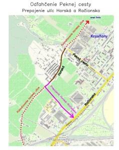 Problematická oblasť v oklolí Horskej ulice a Peknej cesty