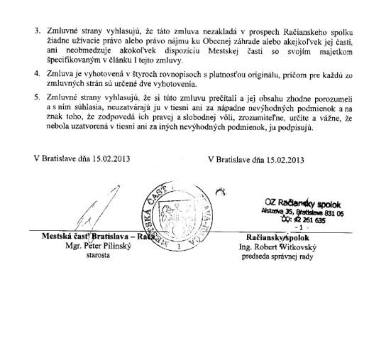Zmluva o spolupráci na projekte Obecná záhrada 4