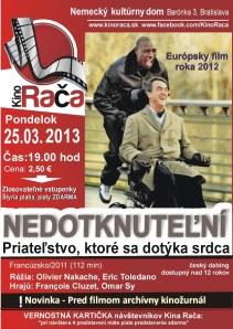 Prvý filmový žurnál si pozrú diáci spolu s Európskym filmom roku 2012 – Nedotknuteľní (Fr.).