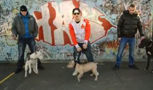 Eddie Dominguez rapuje o aktuálnych veciach - vrátane návrhu na zákaz chovu niektorých pelmien bojových psov.
