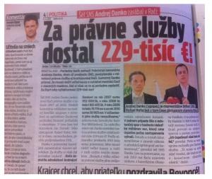 Šéf SNS Andrej Danko zarábal v Rači: Za právne služby dostal 229-tisíc €!. Zdroj: Nový Čas