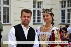 Kráľovná Eleonóra a starosta Rače.