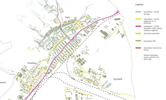 Komunikácie a ich vlastníci v Mestskej časti Bratislava - Rača