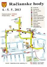 Račianske hody 2013: Pozrite si kompletný program, mapku atrakcií aparkovania