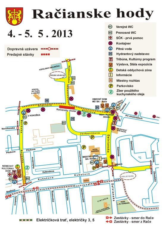 Mapka: Račianske hody 2013