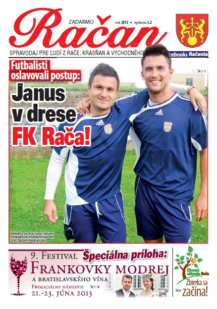 Titulná strana s Jarom Janusom a Andrejom Kalinom.