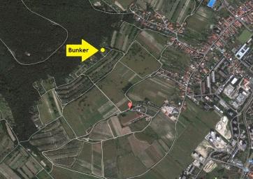 Vyznačenie polohy objektu na satelitnej mape.
