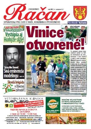 Račan 2013/03, titulná strana.