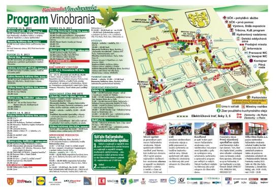 Vinobranie 2013: Mapa a program