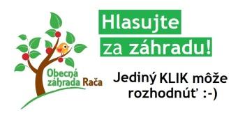 Participatívny rozpočet 2014: Zavlažovací systém Obecnej záhrady v Rači