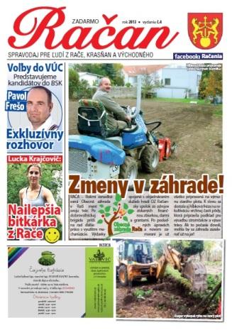 Spravodaj Račan, 04/2013: Titulná strana