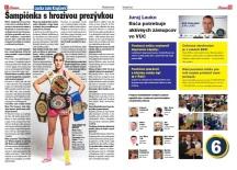 Spravodaj Račan, 04/2013: Interview s Luckou Lulu Krajčovič. Prezentácia kandidáta na poslanca BSK Juraja Lauka.