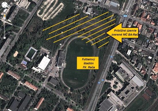Areál sa nachádza medzi ulicami Černockého, Hečkova, Kadnárova a Žitná.