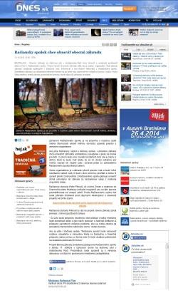 Médiá: Obecná záhrada Rača (aktualne.sk, 09/2013)