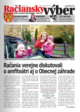 Médiá: Obecná záhrada Rača (Račiansky výber, 10/2012)