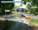 Orientačný schematický náčrt závlahy v Obecnej záhrade.