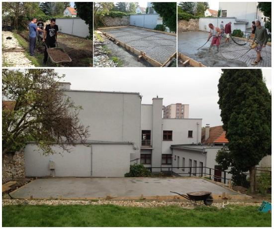 Budovanie prístrešku v záhrade