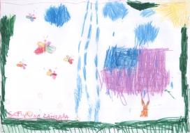 Prší, prší, len sa leje... Sofinka má rada motýľov.