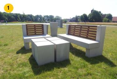 1: Kombinácia drevo a betón