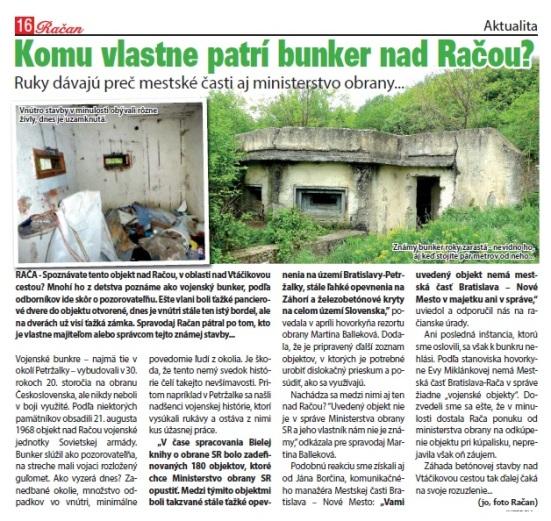Vojenskmý bunker nad Račou