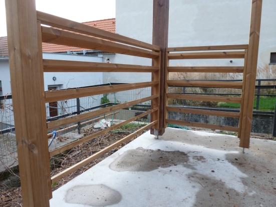 Zábradlie na altánku v Obecnej záhrade